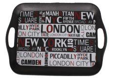 Δίσκος σερβιρίσματος πλαστικός μελαμίνης 36,5Χ26,5 εκ. σχ. LONDON - NEW YORK