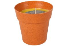 Κερί αρωματικό αντικουνουπικό με πλαστικό γλαστράκι Φ7,8Χ7,8 εκ. χρ. πορτοκαλί