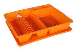 Πιατοθήκη πλαστική με δίσκο 45,5Χ37,5Χ9 εκ. χρ. πορτοκαλί