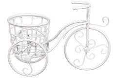 Ζαρντινιέρα μεταλλική 40Χ17Χ27 εκ. σχ. ποδήλατο χρ. λευκό