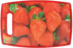 Επιφάνεια – δίσκος κοπής MDF  30Χ20 εκ. με λαβή σχ. φράουλα