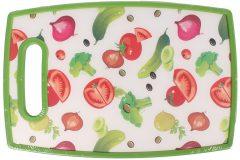 Επιφάνεια – δίσκος κοπής MDF  30Χ20 εκ. με λαβή σχ. ζωγραφιστά λαχανικά