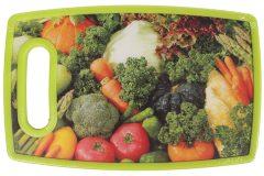 Επιφάνεια – δίσκος κοπής MDF  25Χ16 εκ. με λαβή σχ. λαχανικά