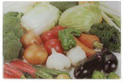 Επιφάνεια – δίσκος κοπής γυάλινος  30Χ20 εκ. σχ. λαχανικά