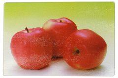 Επιφάνεια – δίσκος κοπής γυάλινος  30Χ20 εκ. σχ. μήλο