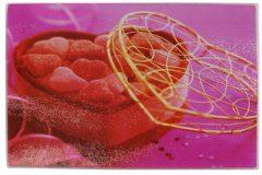 Επιφάνεια – δίσκος κοπής γυάλινος  30Χ20 εκ. σχ. καρδιά