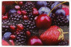 Επιφάνεια – δίσκος κοπής γυάλινος  30Χ20 εκ. σχ. φρούτα