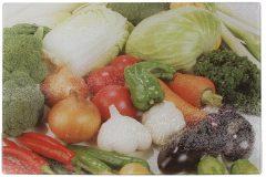Επιφάνεια – δίσκος κοπής γυάλινος  30Χ20 εκ. σχ. λαχανικά 1