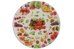 Σουβέρ γυάλινο Φ9 εκ. σχ. φρούτα - λαχανικά