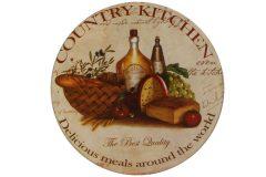 Σουβέρ γυάλινο Φ9 εκ. σχ. country kitchen