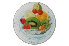 Σουβέρ γυάλινο Φ9 εκ. σχ. φρούτα