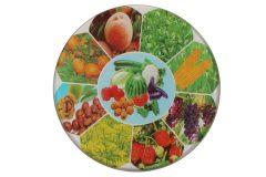 Σουβέρ γυάλινο Φ9 εκ. σχ. λαχανικά