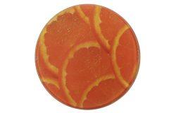 Σουβέρ γυάλινο Φ9 εκ. σχ. πορτοκάλι