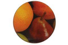 Σουβέρ γυάλινο Φ9 εκ. σχ. μήλο - αχλάδι - πορτοκάλι