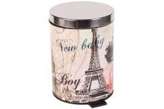 Κάδος μπάνιου μεταλλικός 5 λίτρα με ΙΝΟΧ καπάκι Φ20Χ27 εκ. σχ. PARIS
