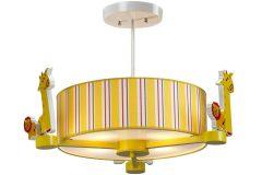 Φωτιστικό κρεμαστό παιδικό Φ50 εκ. 3 Χ Ε14 με καπέλο σχ. ZOO - MD0455-3A