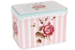 Κουτί αποθήκευσης μεταλλικό 12,5Χ9Χ8,5 εκ. σχ. PINK ROSE