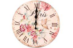 Ρολόι τοίχου ξύλινο Φ23 εκ. σχ.