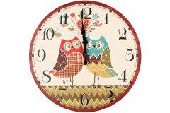 Ρολόι τοίχου ξύλινο Φ30 εκ. σχ.
