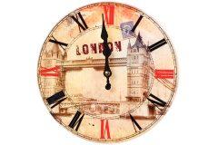 Ρολόι τοίχου γυάλινο Φ23 εκ. σχ.