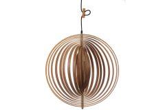 Φωτιστικό μονόφωτο ξύλινο Ε27 Φ50 εκ. χρ. Φυσικό σχ. Μπάλα