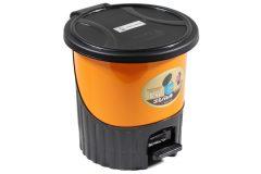 Κάδος μπάνιου πλαστικός με πεντάλ 5,5 λίτρα Φ24Χ24 εκ. χρ. πορτοκαλί