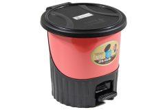 Κάδος μπάνιου πλαστικός με πεντάλ 5,5 λίτρα Φ24Χ24 εκ. χρ. σομόν