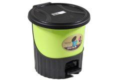 Κάδος μπάνιου πλαστικός με πεντάλ 5,5 λίτρα Φ24Χ24 εκ. χρ. πράσινο