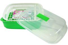 Πιατοθήκη πλαστική - λεκάνη με καπάκι 43Χ29Χ15 εκ. χρ. πράσινο