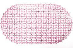 Χαλάκι μπανιέρας αντιολισθητικό 62Χ35 εκ. χρ. Ροζ