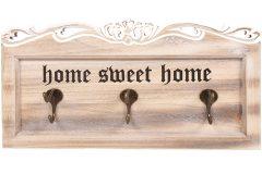 Κρεμάστρα τοίχου ξύλινη με 6 γάντζους 38Χ19,5Χ7,5 εκ. SWEET HOME - KESKOR 2301
